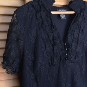 Lane Bryant Lace Medieval Gothic Style Blouse